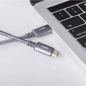 كابل USB-C إلى USB-C من MOSHI - رمادي