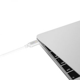كابل شحن USB-C من MOSHI - أبيض