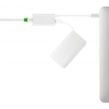 محول USB-C إلى Ethernet من MOSHI - فضي