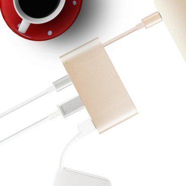 محول USB-C إلى متعدد المنافذ من MOSHI - ذهبي