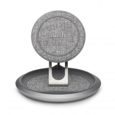 حامل شحن لاسلكي Moshi LOUNGE Q Wireless Charging Stand 15W - رمادي