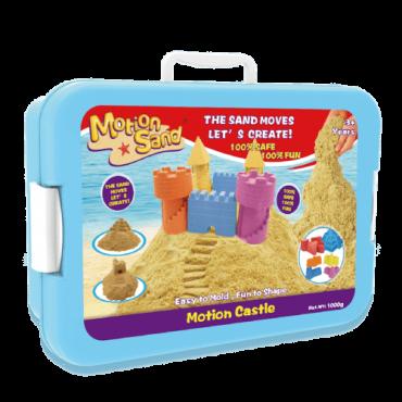 مجموعة القلعة من لعبة صلصال الرمل السحري مع دلو مميز Castle Set 1KG - Motion Sand