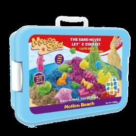 مجموعة الشاطئ من لعبة صلصال الرمل السحري مع دلو مميز Castle Set 1KG - Motion Sand