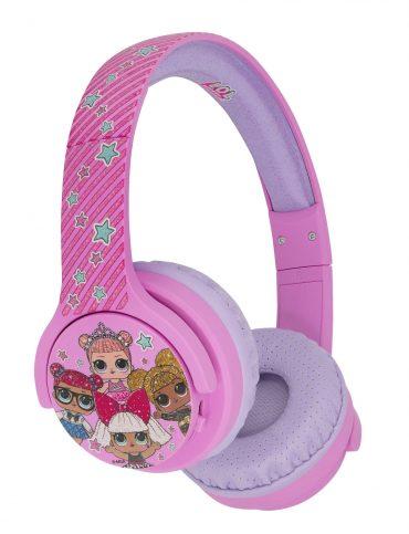 سماعات رأس لاسلكية OTL LOL OnEar Wireless Kids HeadPhone _زهري