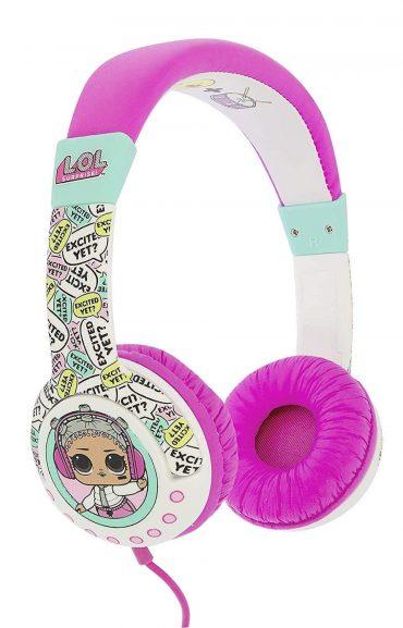 سماعة رأس سلكية OTL  L.O.L Surprise - Wired On-Ear Headphones - وردي وأبيض