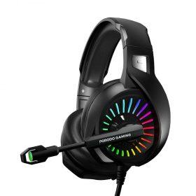 سماعة porodo Gaming مع إضاءة RGB
