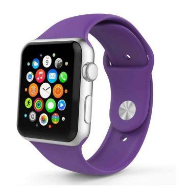 حزام ساعة آبل سليكون بتصميمه الأنيق 44 مللي/42 مللي - جميع الألوان