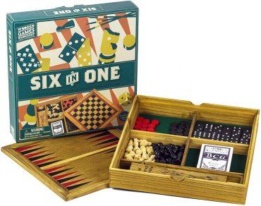 مجموعة ألعاب خشبية 6 في 1 Professor Puzzle - WOODEN GAMES COMPENDIUM