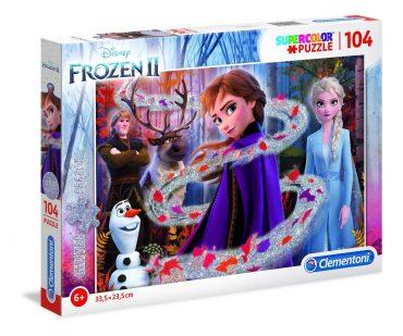 لعبة تطبيقات 104 قطعة CLEMENTONI – Glitter Disney Frozen