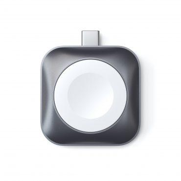 شاحن USB-C Magnetic Charging Dock for Apple Watch SATECHI - أبيض/رمادي
