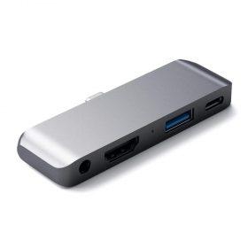 وصلة منافذ Type-C Mobile Pro Hub for iPad & Type-C Smartphones/Tablets SATECHI - رمادي