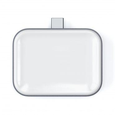 قاعدة شحن لاسلكية Satechi - Airpods Wireless Charging Dock - USB-C Wireless Charger