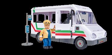لعبة حافلة سام رجل الإطفاء Fireman Sam Trevors Bus incl. - Simba