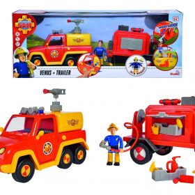لعبة شاحنة الإطفاء مع شخصية سام  Sam Venus with Trailer and Figurine  - Simba