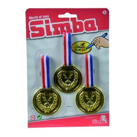 ميداليات للأطفال SIMBA - WORLD OF TOYS WORLD OF TOYS 3 PCS PLASTIC MEDAL