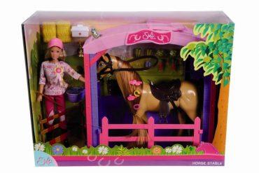 لعبة دمية مع اسطبل حصان SIMBA - SL Horse Stable