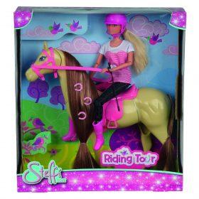 لعبة دمية مع حصان  SIMBA - SL Riding Tour