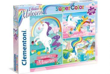 لعبة تطبيقات 48×3 قطعة CLEMENTONI - Unicorns