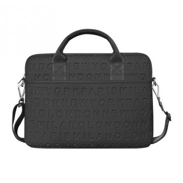 """حقيبة اللابتوب المحمولة WIWU COSMO SLIM CASE FOR 15.4"""" LAPTOP/ULTRABOOK - BLACK"""