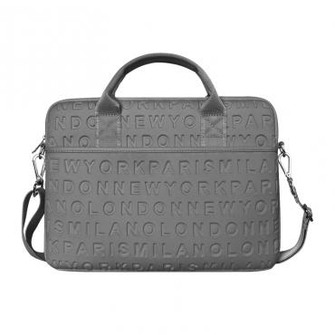 """حقيبة اللابتوب المحمولة WIWU COSMO SLIM CASE FOR 15.4"""" LAPTOP/ULTRABOOK - GRAY"""