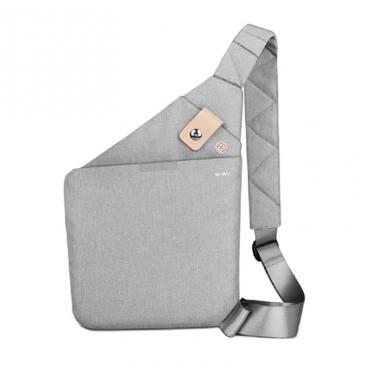 الحقيبة المحمولة المقاومة للبلل WIWU CROSS BODY BAG WATER RESISTANT (34*25.5*1.5CM) - GRAY