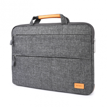 """حقيبة اللابتوب WIWU SMART STAND LAPTOP SLEEVE CASE BAG FOR MACBOOK PRO/LAPTOP 15.4"""" - GRAY"""