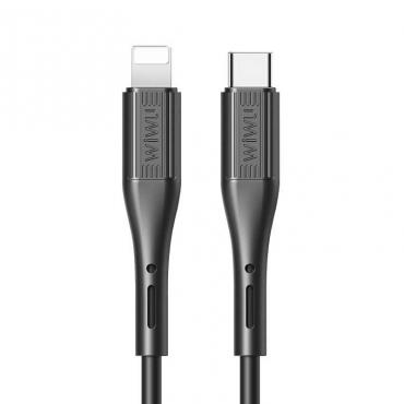 كيبل WIWU G70 VIVID CABLE TYPE-C TO LIGHTNING 2.4A 1.2M - BLACK