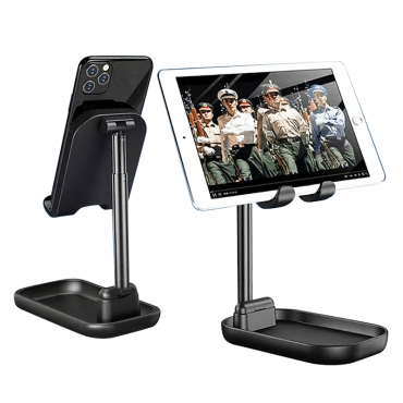 حامل موبايل و تابلت مع ستاند WIWU ZM100 ADJUSTABLE DESKTOP STAND FOR PHONE & TABLET - BLACK