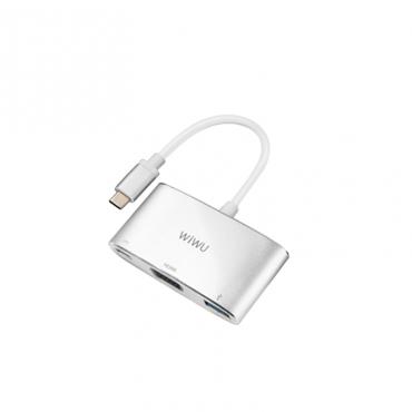 الهاب WIWU ALPHA 3 IN 1 USB-C HUB C2H - GRAY