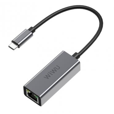 الهاب WIWU ALPHA TYPE-C TO RJ45 USB-C HUB - GRAY
