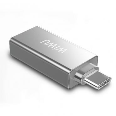الهاب WIWU T02 USB TYPE-C HUB ZINC ALLOY CASE - SILVER