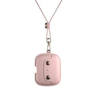 كفر AirPod Pro Leather Necklace WOODCESSORIES - وردي