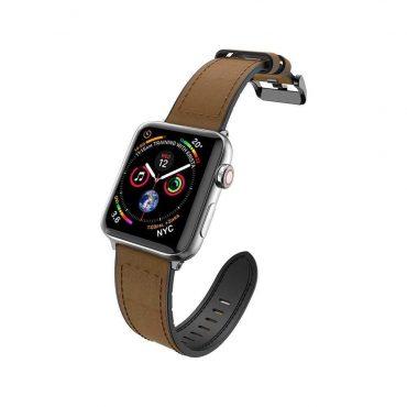 سوار ساعة أبل X-Doria Hybrid Leather Band for Apple Watch 42mm/44mm - Brown Leather