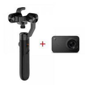 أدوات تصوير كاميرا Mijia 4K sports Xiaomi Mijia Panoramic 360° مع حامل ضد الإهتزاز وبطارية إضافية من شاومي سوداء