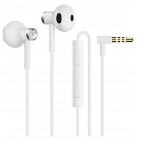 سماعة  الأذن Mi Dual Driver Earphones ثنائية المحرك - بيضاء - شاومي