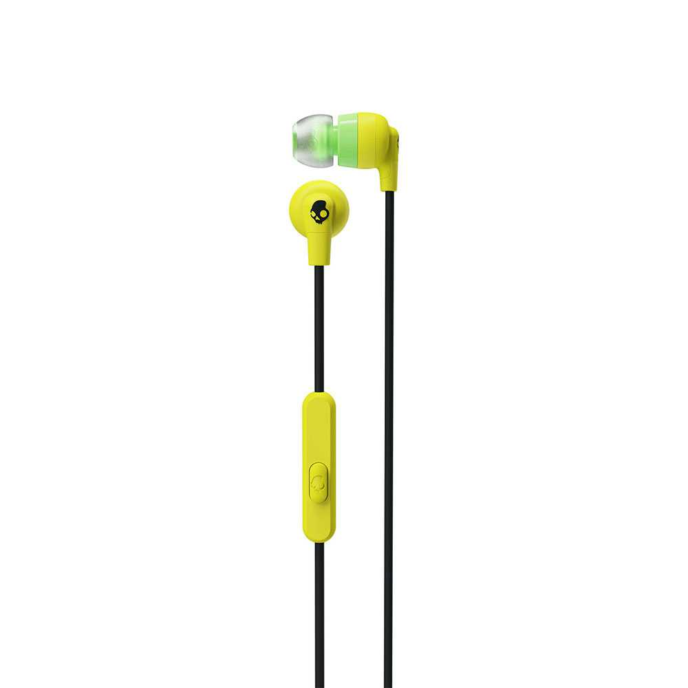 Skullcandy Inkd+ In-Ear Headphones with Mic - Electric Yellow