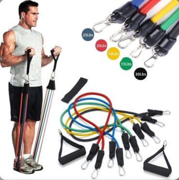 11 Pcs Resistance Elastic Equipment Yoga Gym Bands MF-0040