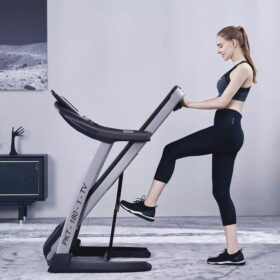 """3.0 HP Motorized Treadmill With 10.1"""" TV Screen - White Color"""