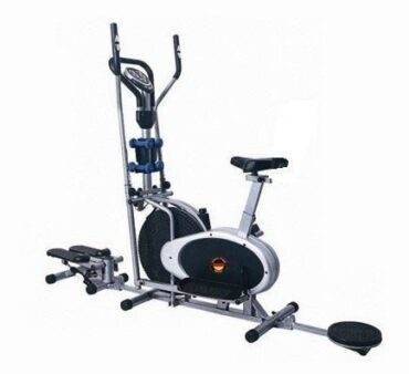 5 in 1 Multifunction Elliptical Cross Trainer Orbitrac with Seat/Dumbbell/Twister/Stepper for Home Use-BXZ-32gst
