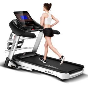 DC Motorized 3.5HP Treadmill with 5? LCD Display Screen - User Weight: 120KGs