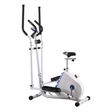 Elliptical Trainer and Exercise Bike with Seat and Heart rate Pulse Sensor