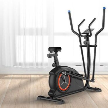 Elliptical and Upright Exercise Bike 2 in 1 Cardio Dual Trainer with Heart Rate MF-CT-187