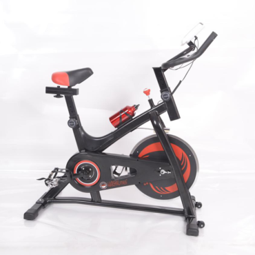 Indoor Exercise Spinning Bike Cycling Spine Bike Cardio Workout Driven Flywheel Cycling Adjustable Handlebars Seat Resistance Digital Monitor