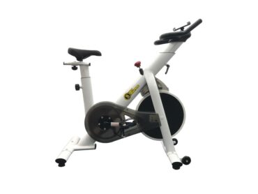 Indoor Exercise Spinning Bike Cycling Spine Bike Cardio Workout - White Color