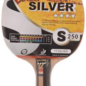 Silver Table Tennis Bat / Racket