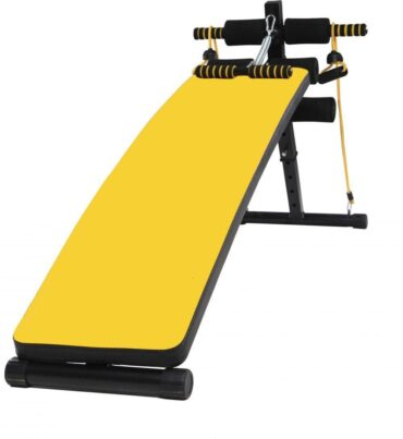Sit up Bench Adjustable Decline Ab Crunch Board with Dumbbells Pull up Spring and Resistance Band-Bt-1831