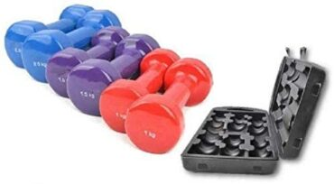 Vinyl Dumbbell Set With Carrying - 10 KG